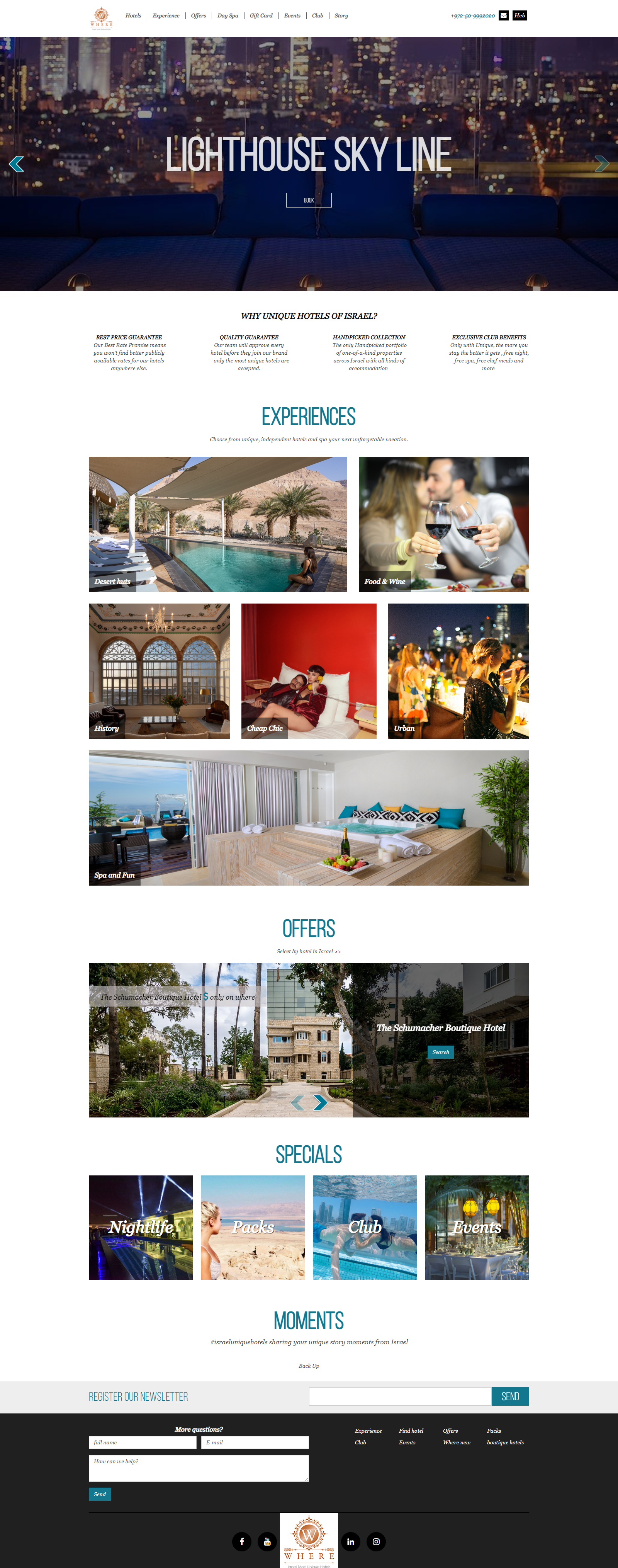 Where - UNIQUE HOTELS OF ISRAEL
